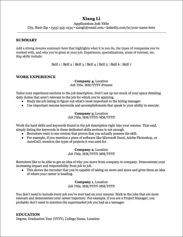 Resume Templates - Jobscan