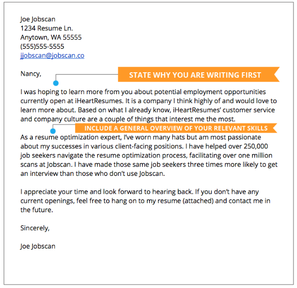 write a cover letter example