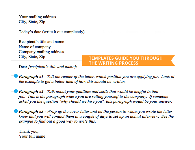 cover letter template example - How To Set Out A Cover Letter