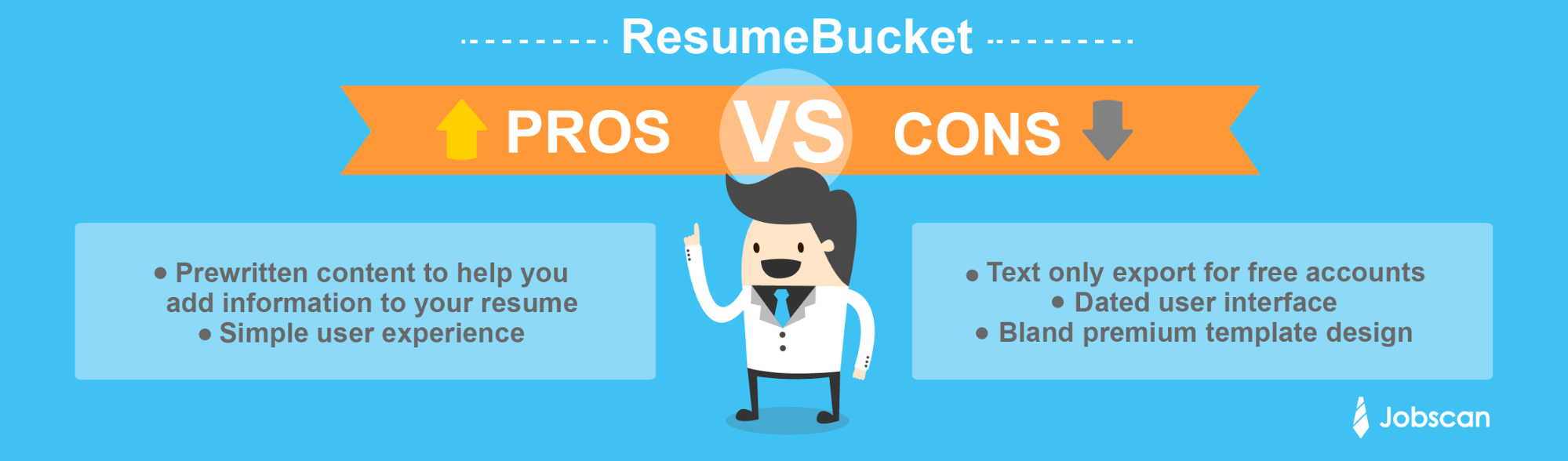Resume Bucket Pro Con  Resume Builder Template Free