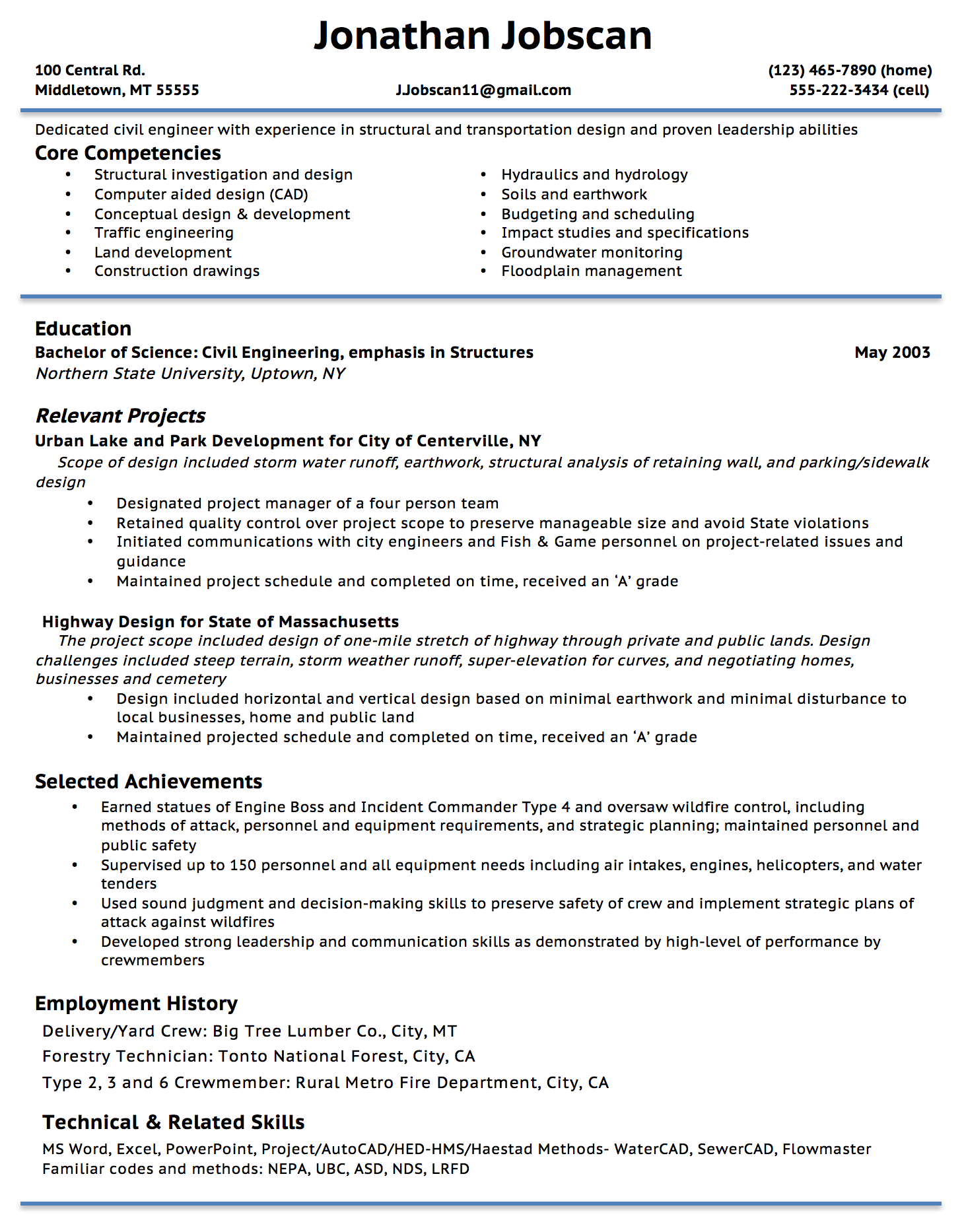 Functional Resume Example  Resume Skills Summary