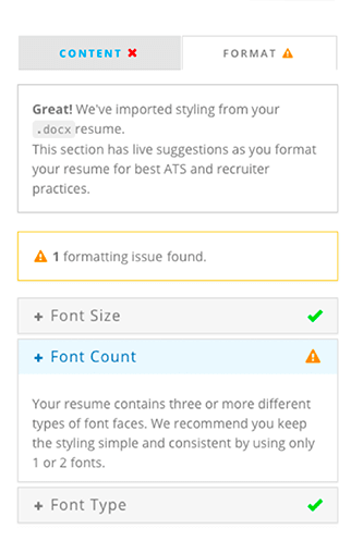Perfect your resume formatting with the Power Edit resume editor