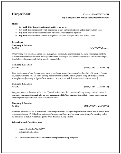 The Hybrid Resume Is The Best Resume Format Here S Why
